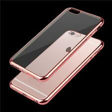 For Apple iPhone 6 / 6S Luxury Ultra-Thin TPU Soft Clear Case With Chrome Edges