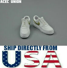 """1/6 NIKE Style Men Sneakers WHITE GOLD For 12"""" Hot Toys Figure - U.S.A. SELLER"""