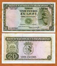 Timor, 20 Escudos, 1967, Pick 26, Portuguese