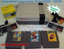 Nintendo NES Console System Bundle NEW PIN Game lot Super Mario 1 2 3 GUARANTEE!