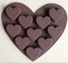 Silicone Heart Mold - Chocolate Shapes, Baking / Muffin Ice Cube or Jelly Mould