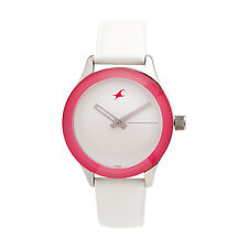 FASTRACK Trendy White Strap Watch for Girls NF6078SL01