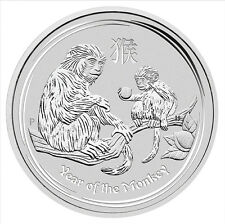 2016 Year of the Monkey Lunar Series ll Silver 1/2 oz 999 Bullion Coin
