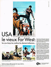 PUBLICITE ADVERTISING 055  1967  OFFICE TOURISME USA  le vieux FAR-WEST
