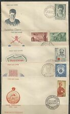 1963 India FDCs complete year set  first day covers FDC