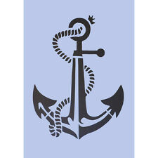 Anchor Stencil A4 Crafts Nautical Signs Navy Spray Paint Wall Plaque Tattoo 028