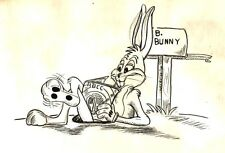 Original 1970s BUGS BUNNY drawing by Ken Mitchroney