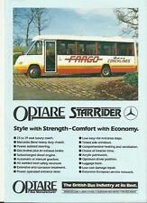 OPTARE STAR RIDER LUXURY COACH RANGE SALES 'BROCHURE'/SHEET LATE 80's?
