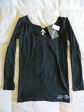 So Cal Women's Diamondness Long Sleeve Top w/Rhinestones NEW w/tags, SIze S
