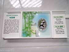 Aidollar: 999 Silver Proof coin Singapore 2012 Giant Panda Commemorative $5 Coin