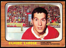 1966 67 TOPPS HOCKEY #10 CLAUDE LAROSE EX+ MONTREAL CANADIENS CARD FREE SHIP USA