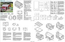 Dog House with Porch, Barn Roof Style Plans, 90204B  Pet Size up to 50 lbs
