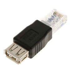 RJ45 Male to USB AF A Female Adapter Socket LAN Network Ethernet Router Plug