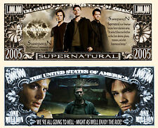 SuperNatural Million Dollar Bill Collectible Funny Money Novelty Note