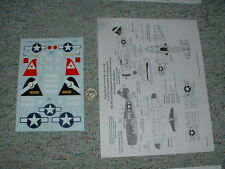 SuperScale decals 1/48 48-1138 P-47C Razorback Thunderbolts Formation Monit  D89