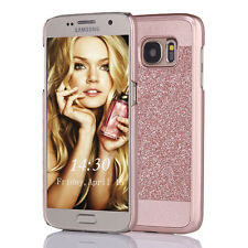 For Samsung Galaxy S7 Luxury Bling Glitter Hard Phone Case Cover Skin-Rose Gold