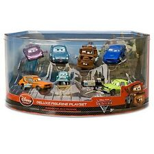 New Disney Store Cars 2 Deluxe 7 Figure Play Set Tow Mater Cake Topper Bath Toy