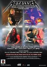 METALLICA HARDWIRED TO SELF- DESTRUCT LIVE IN HONG KONG 2017 TOUR POSTER