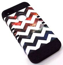 for iPhone SE 5s Chevron Wave Space Rubber Hybrid Protective Koolkase Skin Case