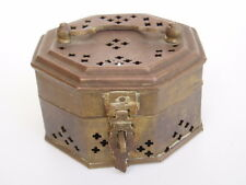 brass cricket cage keeper box - 100mm wide