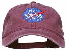 NASA Insignia Embroidered Pigment Dyed Cap - Maroon OSFM