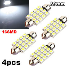 4X 16 SMD LED Pure White Car Interior Dome C5W Festoon Bulb Light Lamp 39mm 12V