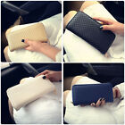 Women PU Leather Clutch Wallet Long Card Phone Holder Case Purse Handbag
