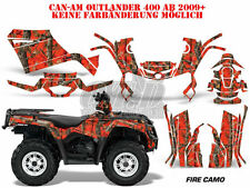 AMR RACING DEKOR GRAPHIC KIT ATV CAN-AM OUTLANDER STD & XMR MAX  FIRE CAMO B