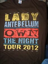 Terrific Lady Antebellum Own The Night 2012 T-Shirt, Size Large, Never Worn!
