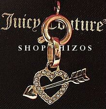 AUTHENTIC JUICY COUTURE PAVE HEART & ARROW MINI CHARM NEW PINK BOX