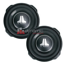"(2) JL AUDIO 10TW3-D4 Car Subs 10"" DVC 4-Ohm Thin-Line Shallow Subwoofers New"