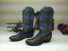 VINTAGE CUSTOM COOL LOOK SILVER GRAY OSTRICH LEG WESTERN COWBOY BOOTS 9.5 D