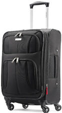 "Samsonite Luggage Aspire XLite 20"" Spinner 4 Wheeled Carry On Expandable - Black"