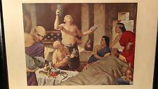 """ROBERT THOM""""BABYLONIA 2600 B.C.""""PRINT SERIES:A HISTORY OF PHARMACY IN PICTURES"""