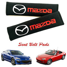 2 Pcs MAZDA Seat Belt Cover Shoulder Pad Cushion RX7 Rx8 MX5 6 CX3