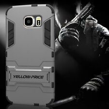 [[YELLOW-PRICE Outlet] Samsung Galaxy S6 Case [KICK-STAND] Hybrid Armor Cover