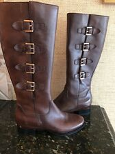 ECCO Sullivan Brown Riding Boot Size 38 Us 7-7.5