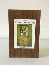 Doll House Furniture Wood Colonial Hutch Kit #100 Craft Creative NOS Vintage USA