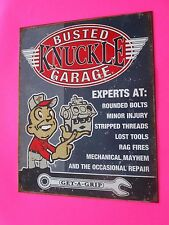 tin metal decor gas oil dealer garage repair shop advertising petroleum busted