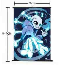 """Hot Japan Anime Game Undertale Cosplay Whole Art Home Decor Wall Scroll 8""""x12"""" E"""