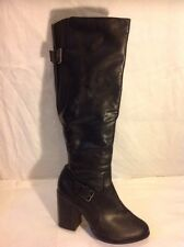New Look Black Knee High Boots Size 7