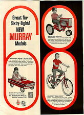 1968 PAPER AD Murray Deluxe Tractor Firebird Pedal Car Ram Rod Bicycle Bike