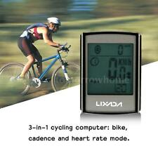 MULTIFUNCTIONAL WIRELESS LCD BICYCLE COMPUTER WITH CADENCE HEART RATE STRAP J5O7