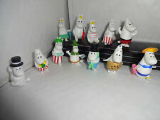 THE MOOMINS CAKE TOPPERS 12 PLASTIC FIGURES BRAND NEW FREE P+P