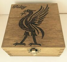 Personalised Wood Memory Keepsake Box 12cm Liver Bird Liverpool FC LFC Christmas