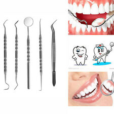 5PCS Stainless Steel Dental Lab Kit Dentist Surgical Wax Carving Teeth Tool Set