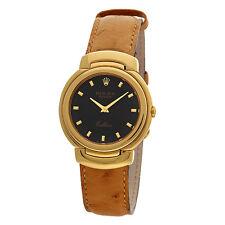 Rolex Cellini Danaos Classic 750/ Gold, Lederband, Quartzwerk