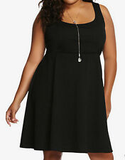 New Torrid Black Textured Skate Dress in Size 4 4X