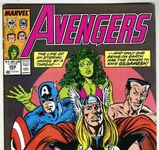 The AVENGERS #308 with Captain America & Thor from Oct 1989 in VF- con. NS