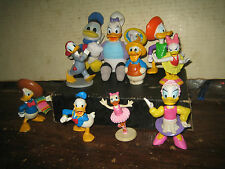 "10 RARE HTF DISNEY'S DONALD DUCK & DAISY COLLECTABLE FIGURES LOT ,"" SOLD AS IS """